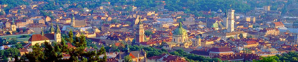 Lviv. Panoramic view of the Old Town