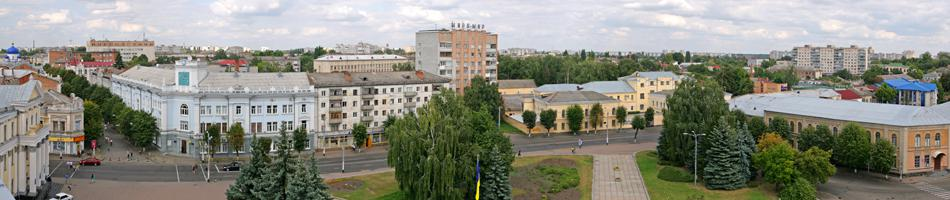 Zhytomir central square named after USSR space programm founder akademician S.Korolyov